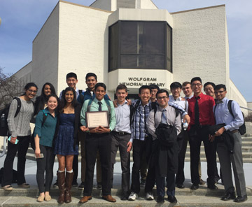 MHS's Tests of Engineering Aptitude, Math and Science B team finished first, the A team second at Widener's competition on March 8.