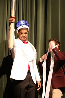 Stephan Savage won the 2016 Mr. Methacton pageant. Nick Rossi, last year's winner, was there to pass on the crown.