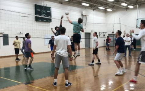 Students could enter teams into the post-prom's annual volleyball tournament.