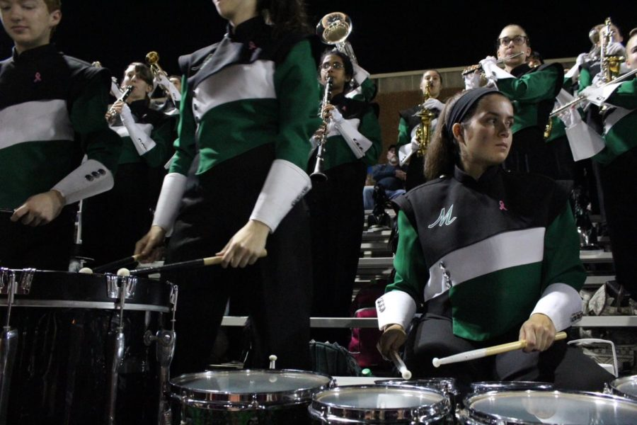 Quad player Katie Gabell plays the beat of the Hey song.