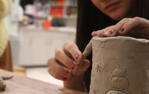 Kelliann's hands get dirty as they are forming her masterpiece, allowing her to escape for 45 minutes every day.