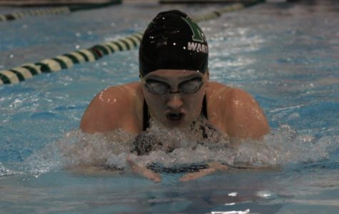 Swim Team Celebrates its Seniors at Final Home Meet