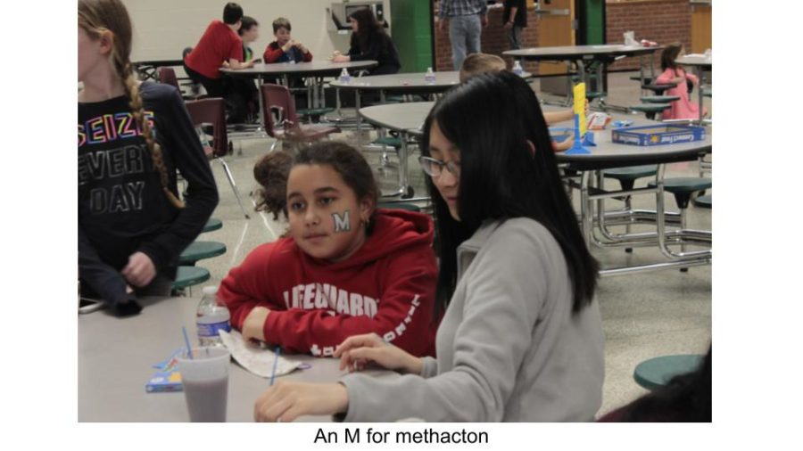 Multicultural Club students painted kids' faces in the cafeteria.