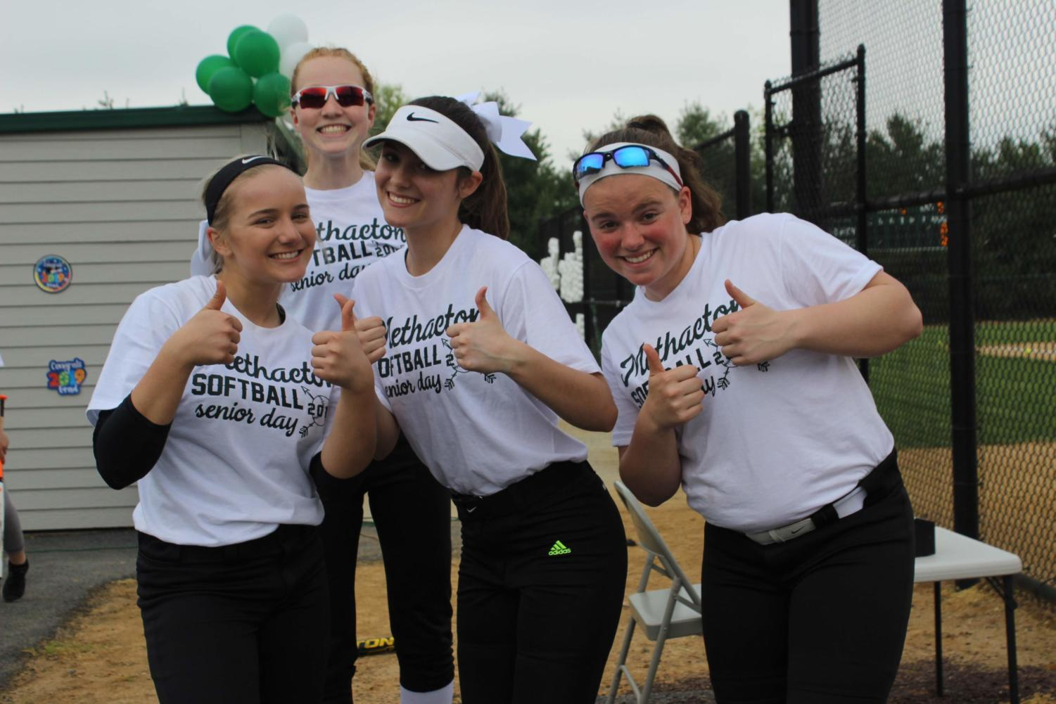 %28from+left%29+Olivia+Terry%2C+Aly+Markley%2C+Haley+Chapman+and+Caroline+Newman+give+a+thumbs+up+before+their+game+against+Pottstown.%0A