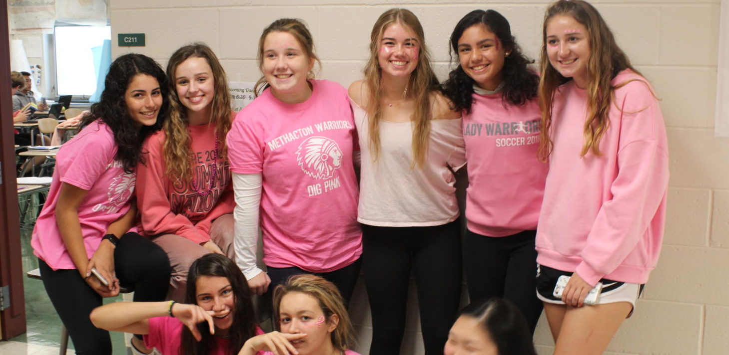 Spirit Week Features Pink Out and Green and White Days Prior to the Pep Rally