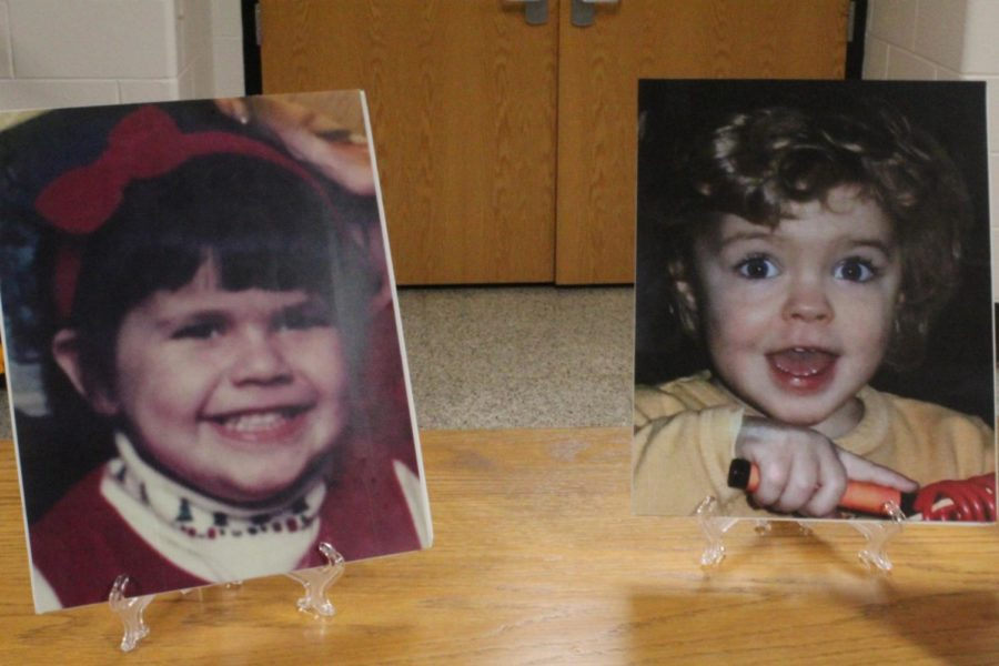 Each senior had a baby picture present.
