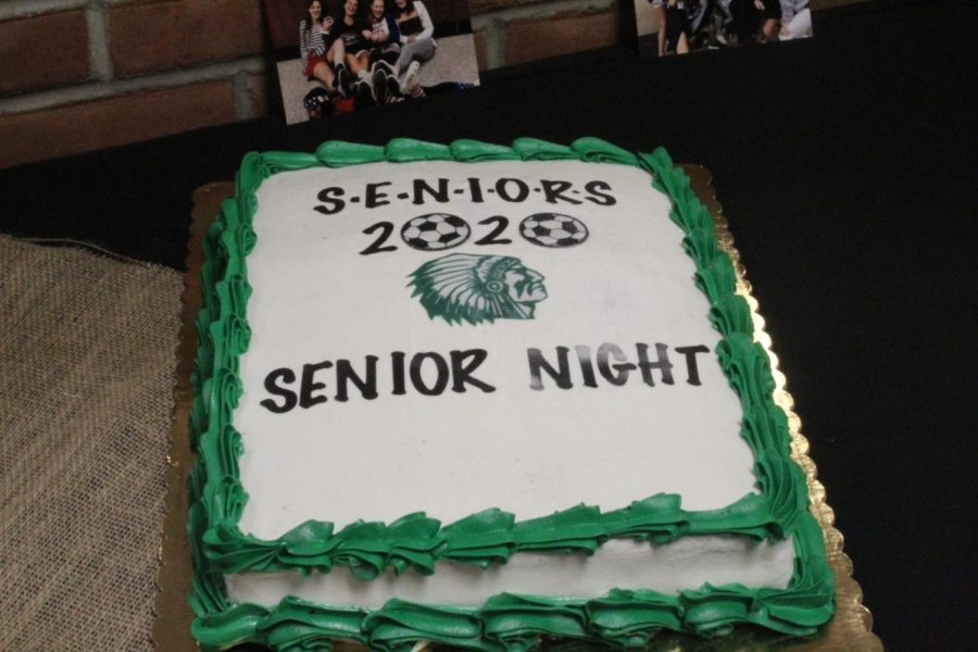 The senior enjoyed cake and other food after their victory over Norristown.