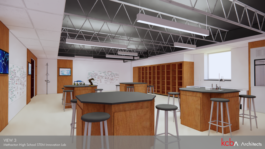 KCB Architects provided a blue print image of what the forensic, biochemistry and nutrition lab will look like when it comes to the MHS science program in 2022.