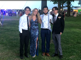 The 2021 Class Congress members (from left) President Matthew Fu, Vice-President Jessica Lineen, Secretary Jeffery Gong, and Treasurer Jake Llyod, along with sponsors Mrs. Alderfer and Mrs. Fabrizio led the charge to create Seniors Under the Stars on May 21. The evening, featuring food trucks, senior superlatives, a DJ and yard games, gave seniors a final chance to gather with their classmates before graduation.