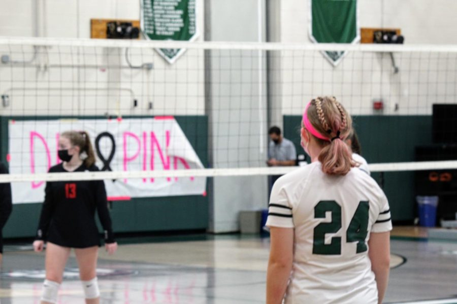 Jacque Rizzuto plays defense and wears pink for the team.